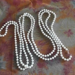 Jewelry - Pearls, Flapper Necklace, Faux, Long 118 inches